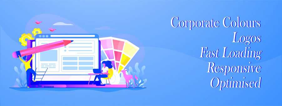 Corporate Colours - Logos - Responsive Design, Fast Loading